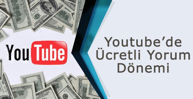 Youtube'da ücretli yorum
